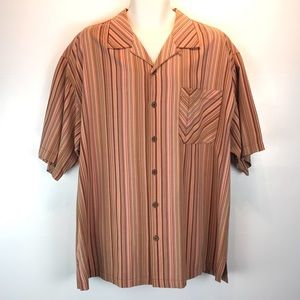 Tommy Bahama silk striped shirt sz XL